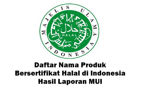 daftar nama makanan berlabel halal di indonesia